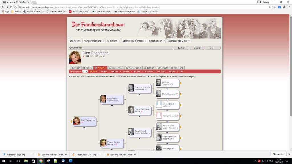 Ahnenforschung online auf eigener Homepage präsentieren